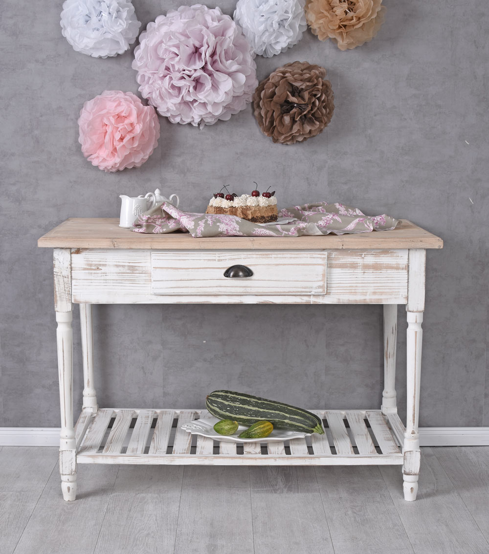 Küchenanrichte Table De Mur Console Cuisine En Bois Ancien Ebay