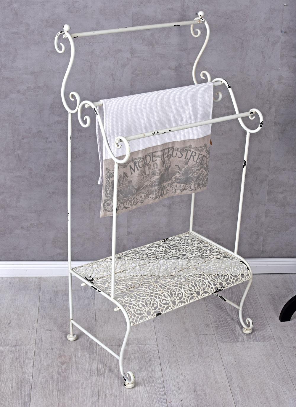 Handtuchständer Landhausstil Handtuchhalter Handtuchstange Metallständer Bad Handtuchhalter