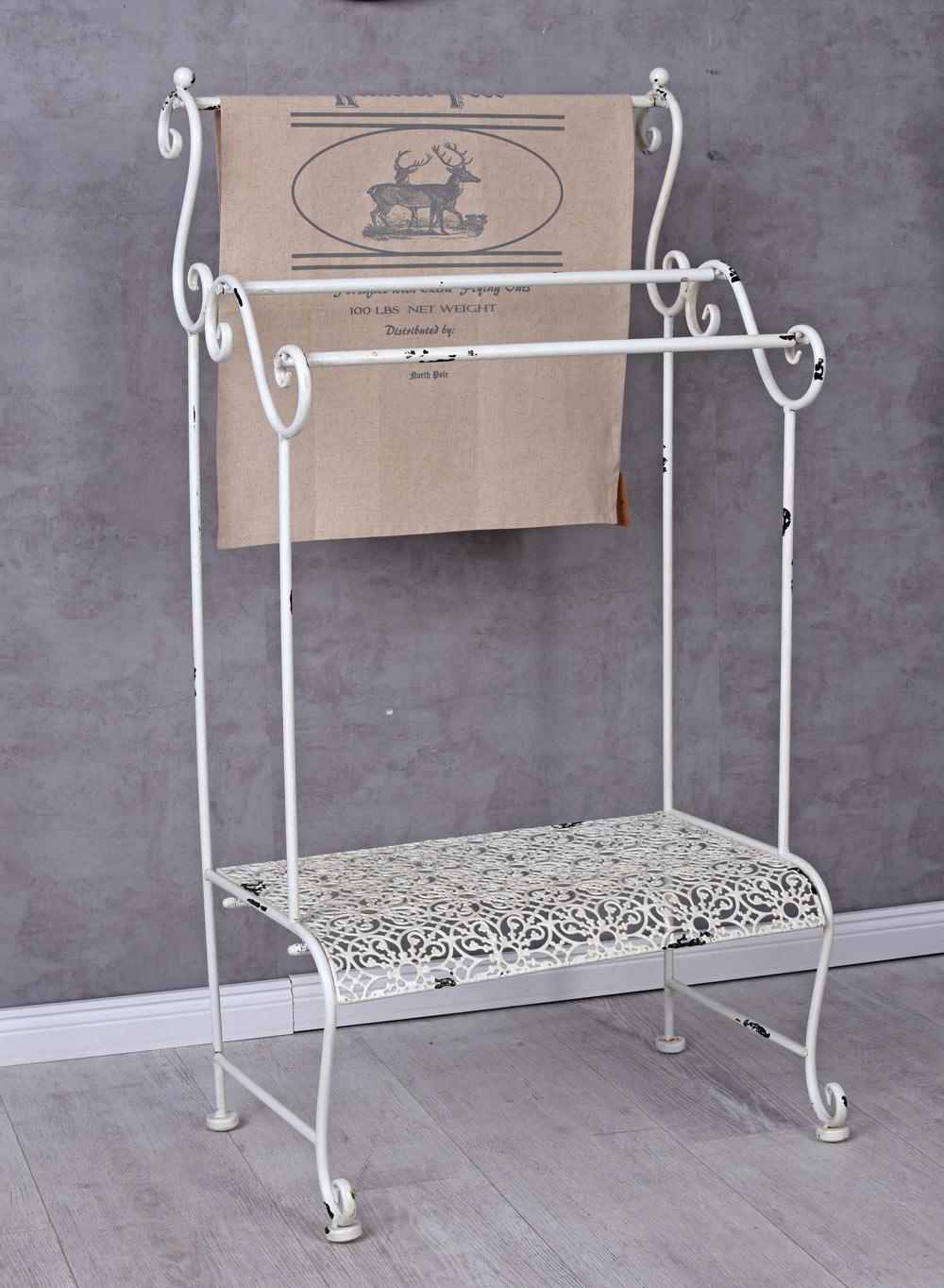 Handtuchst nder landhausstil handtuchhalter handtuchstange metallst nder bad ebay - Handtuchhalter landhausstil ...