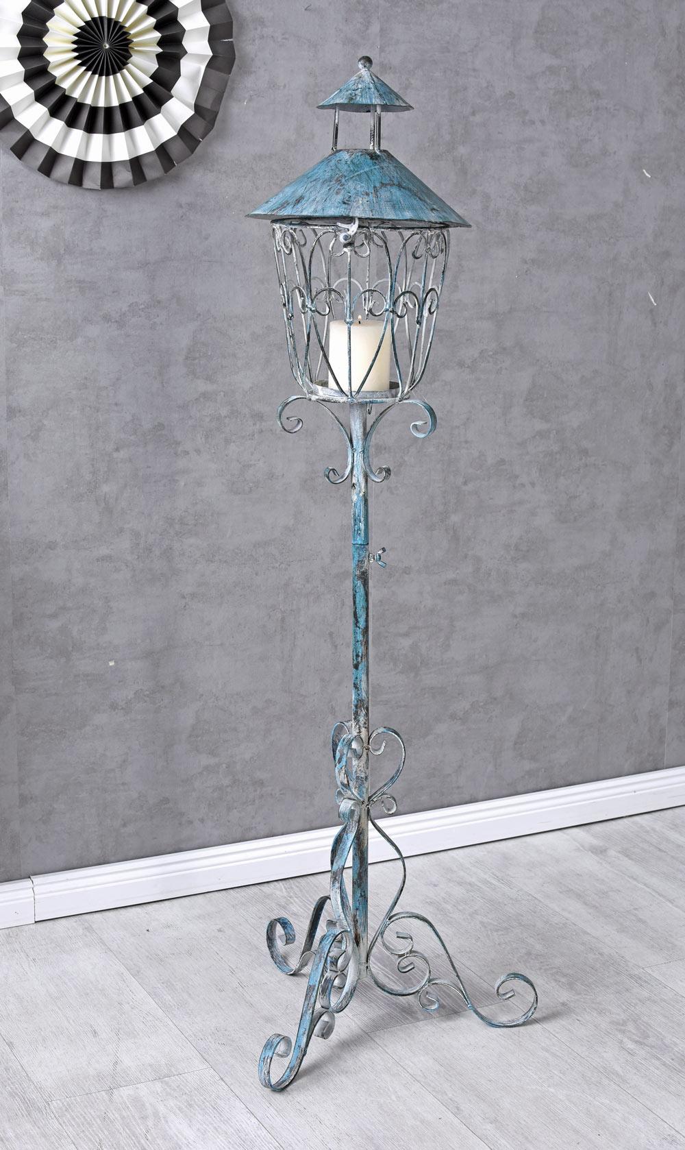 Laterne Standlaterne Gartenlaterne Antik Gartendekoration Windlicht Landhausstil