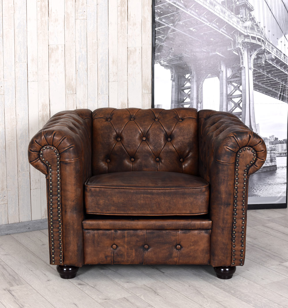 Chesterfield Sessel Antik Clubsessel Cocktailsessel