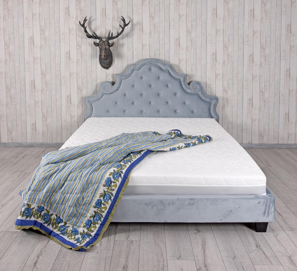 Dettagli su Reale Letto Rococo Matrimoniale Altezza Testata Imbottito  180x200cm