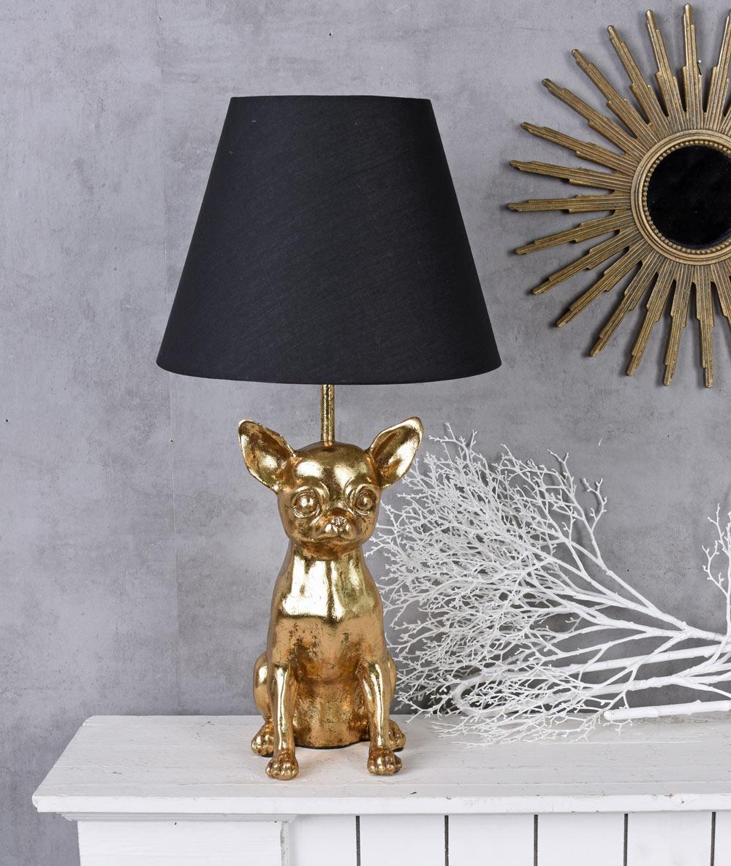 Tischlampe Elefant Figur Tischleuchte Nachttischlampe Gold Leuchte Tierfigur