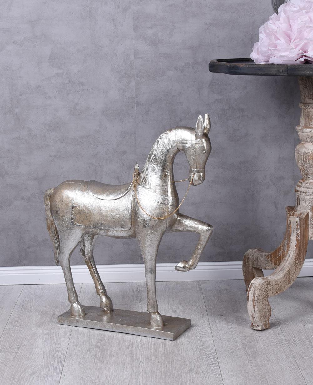 pferdeskulptur silber pferd landhausstil weihnachten. Black Bedroom Furniture Sets. Home Design Ideas