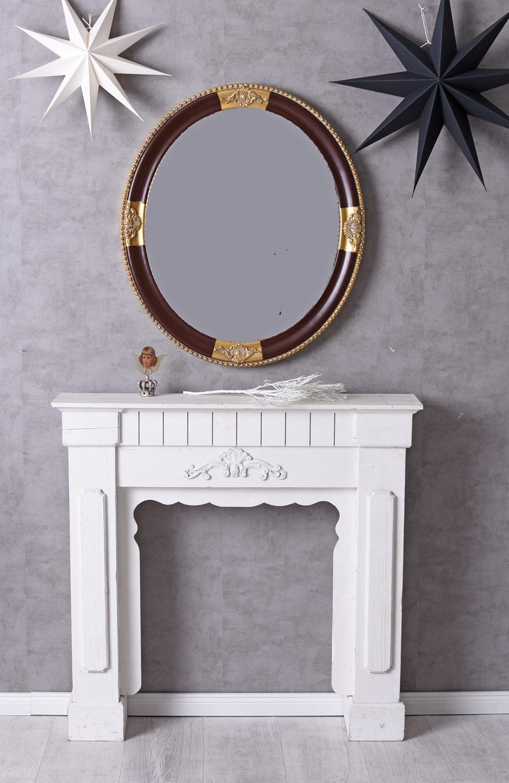 spiegel rund wandspiegel barock dekospiegel kaminspiegel