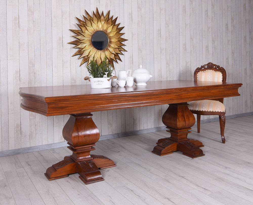 XXL à Manger Bois D'Acajou Klostertisch Table de Salle Massif ...