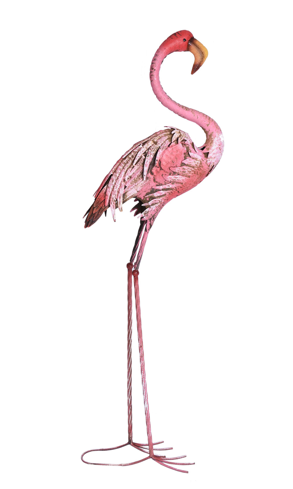 Metallo Figura Giardino Figura esotiche uccelli 66 cm stagno personaggio Gartendeko Teichdeko
