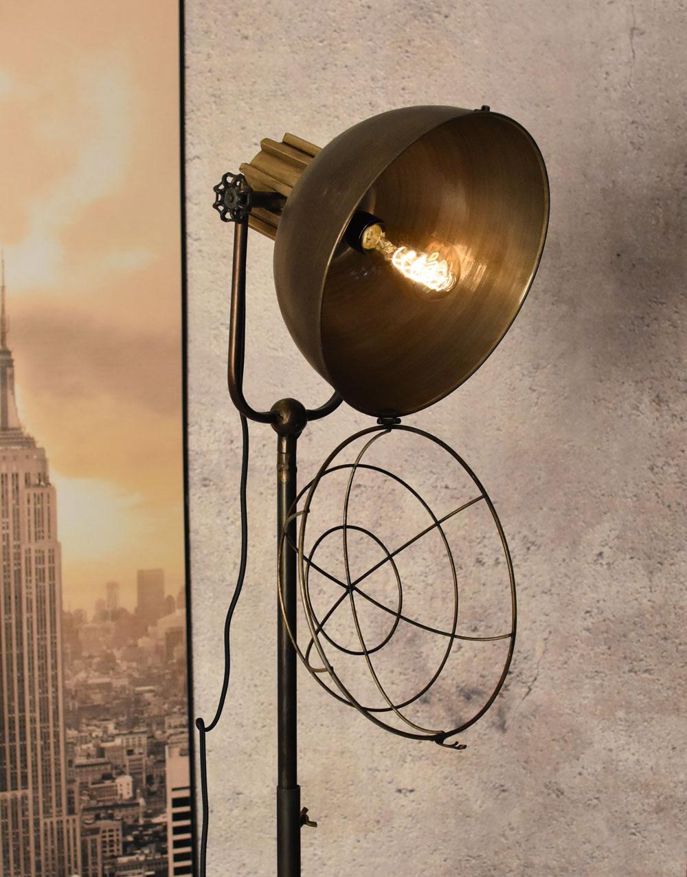 Retro Lampe Stehlampe Leuchte Scherenarm Stehleuchte Stoffkabel Industrielampe