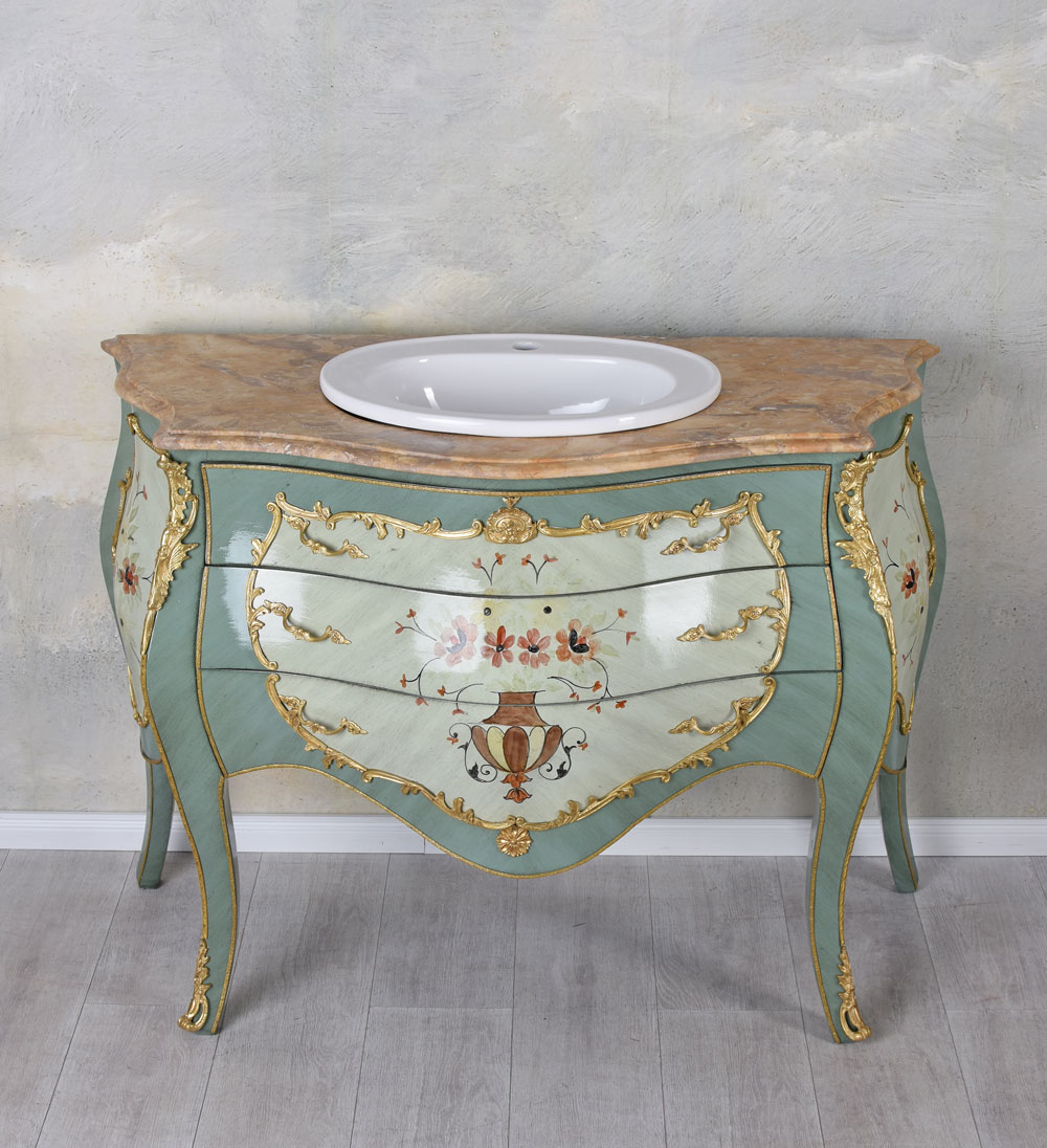 Baroque lavabo commode lavabo avec meuble meuble de salle - Meuble de salle de bain style baroque ...
