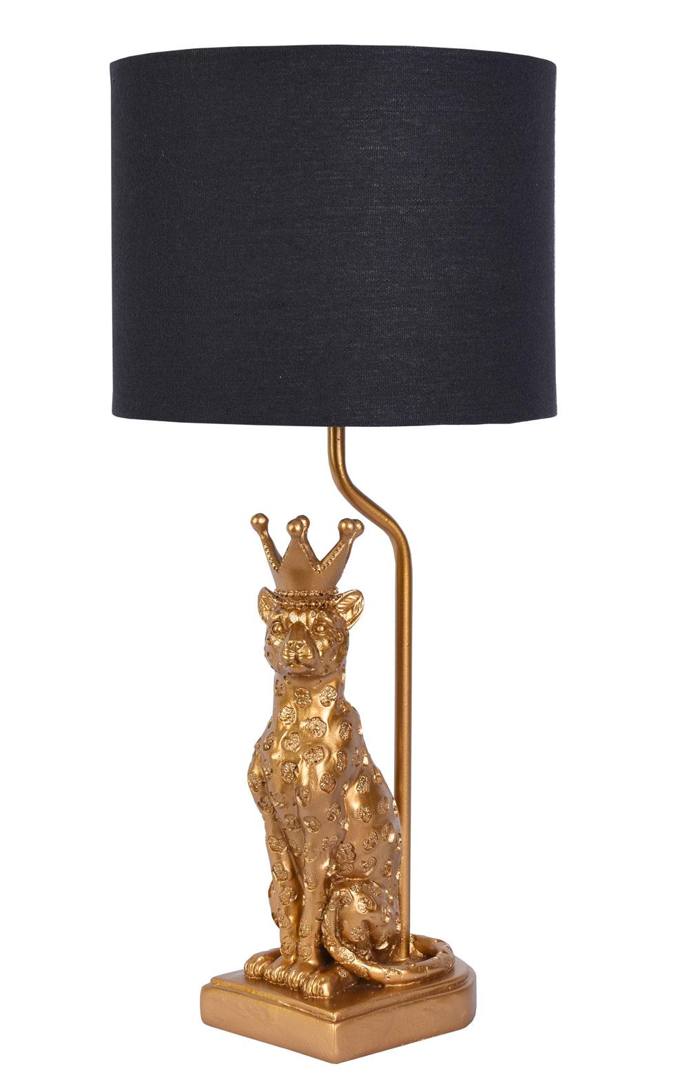 Lampada Figura Animale Luce Panther Lampada Da Tavolo Oro Luce Leo Con Corona Ebay