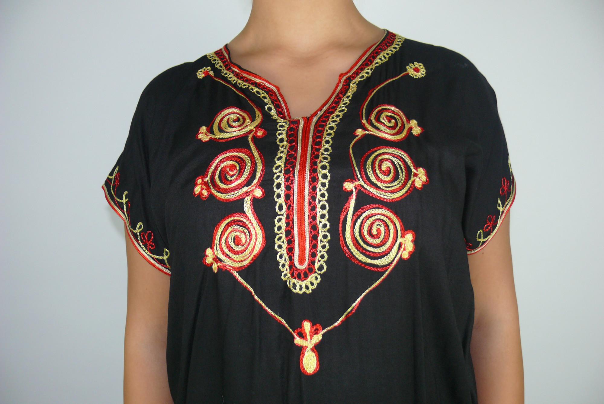 details zu orientalisches kleid kaftan tunikakleid strandkleid sommerkleid  maxi