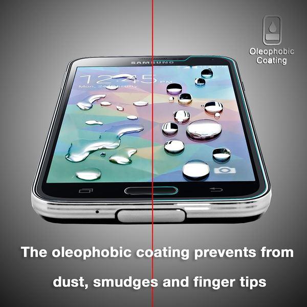 NALIA Schutzglas kompatibel mit iPhone SE / 5 / 5S / 5C, Full-Cover Displayschutz Handy-Folie, 9H gehärtete Glas-Schutzfolie Bildschirm-Abdeckung, Schutz-Film Clear HD Screen Protector - Transparent – Bild 6