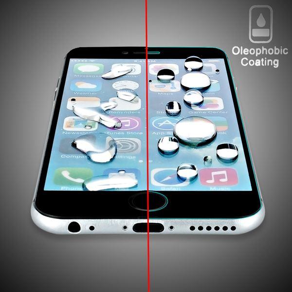NALIA Schutzglas für Apple iPhone 6 / 6S, Full-Cover Displayschutz Handy-Folie, 9H gehärtete Glas-Schutzfolie Bildschirm-Abdeckung, Schutz-Film HD Screen Protector Glass - Transparent (schwarz) – Bild 4