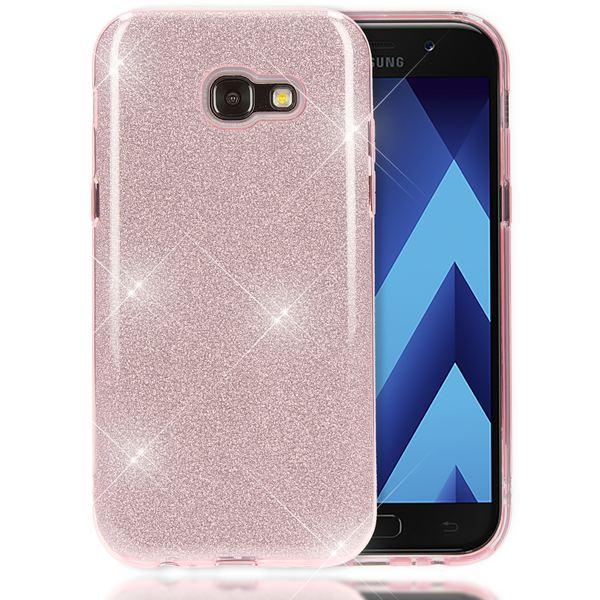 NALIA Handyhülle kompatibel mit Samsung Galaxy A3 2017, Glitzer Slim Silikon-Case Back-Cover Schutzhülle, Glitter Sparkle Handy-Tasche Bumper, Dünne Bling Strass Smart-Phone Hülle – Bild 2