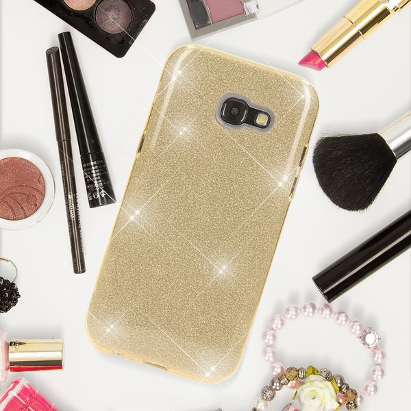 NALIA Handyhülle kompatibel mit Samsung Galaxy A5 2017, Glitzer Slim Silikon-Case Back-Cover Schutzhülle, Glitter Sparkle Handy-Tasche Bumper, Dünne Bling Strass Smart-Phone Hülle – Bild 19