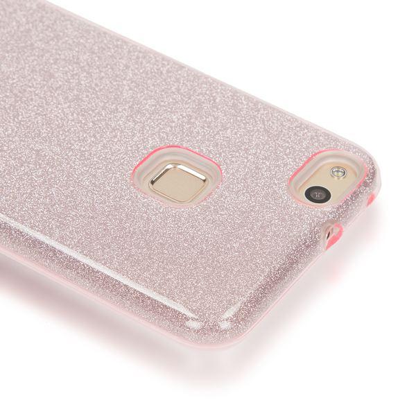 NALIA Handyhülle für HuaweiP10 Lite, Glitzer Ultra-Slim Silikon-Case Back-Cover Schutz-Hülle, Glitter Sparkle Handy-Tasche Bumper, Dünnes Bling Strass Phone Etui für P-10 Lite – Bild 3