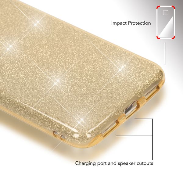 NALIA Handyhülle kompatibel mit Huawei P8 Lite 2017, Glitzer Slim Silikon-Case Back-Cover Schutzhülle, Glitter Sparkle Handy-Tasche Bumper, Dünne Bling Strass Smart-Phone Hülle – Bild 17