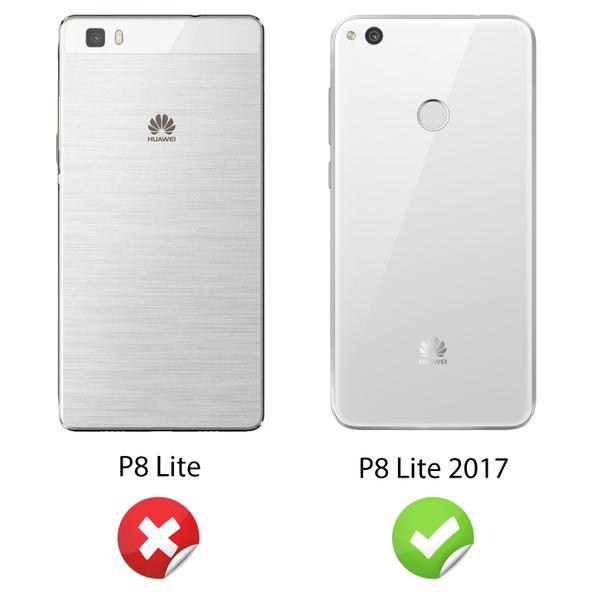NALIA Handyhülle kompatibel mit Huawei P8 Lite 2017, Glitzer Slim Silikon-Case Back-Cover Schutzhülle, Glitter Sparkle Handy-Tasche Bumper, Dünne Bling Strass Smart-Phone Hülle – Bild 4