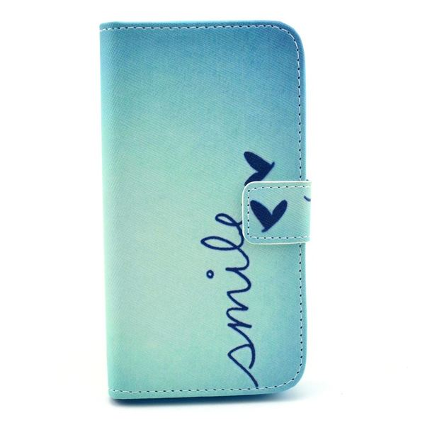 NALIA Klaphülle für Samsung Galaxy S4, Hülle Slim Flip-Case Kunst-Leder Vegan, Etui Schutzhülle Book-Case, Dünne Vorne Hinten Handy-Tasche Wallet Bumper für Samsung S4 - Smile Heart Edition – Bild 1