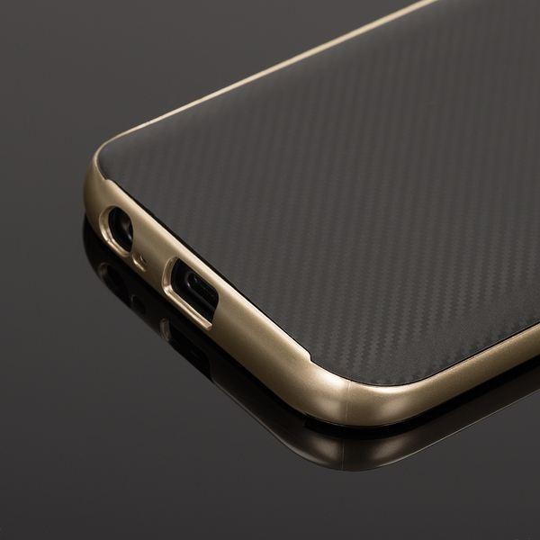 NALIA Handyhülle kompatibel mit Samsung Galaxy A3 2017, Carbon Design mit Metall-Look Rahmen, Ultra-Slim Schutzhülle Silikon Case Dünne Etui Hülle Handy-Tasche Smart-Phone Back-Cover – Bild 12