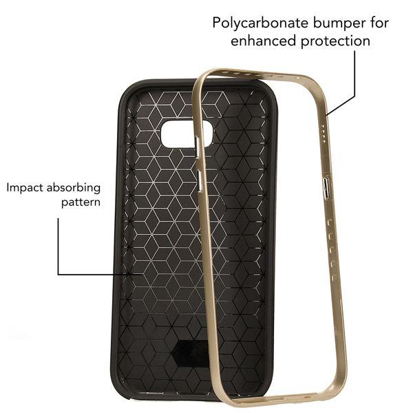 NALIA Handyhülle kompatibel mit Samsung Galaxy A3 2017, Carbon Design mit Metall-Look Rahmen, Ultra-Slim Schutzhülle Silikon Case Dünne Etui Hülle Handy-Tasche Smart-Phone Back-Cover – Bild 10