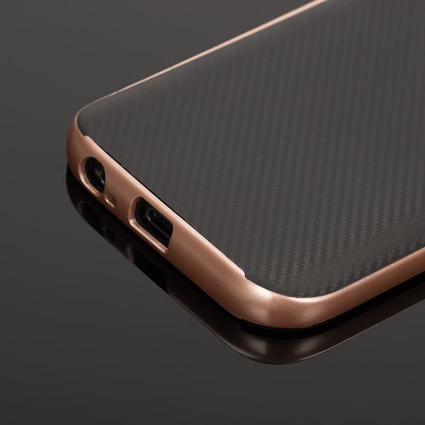 NALIA Handyhülle kompatibel mit Samsung Galaxy A5 2017, Carbon Design mit Metall-Look Rahmen Ultra-Slim Schutzhülle Silikon Case, Dünne Etui Hülle Handy-Tasche Smart-Phone Back-Cover – Bild 18