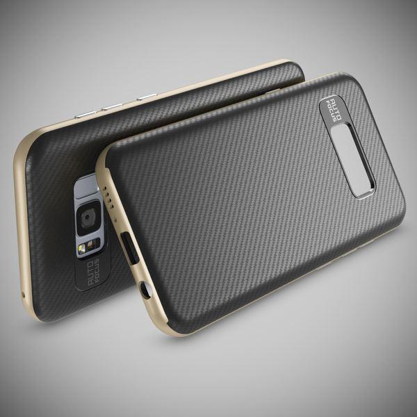 NALIA Handyhülle kompatibel mit Samsung Galaxy S8, Carbon Design mit Metall-Look Rahmen, Ultra-Slim Schutzhülle Silikon Case, Dünne Etui Hülle Handy-Tasche Smart-Phone Back-Cover – Bild 12
