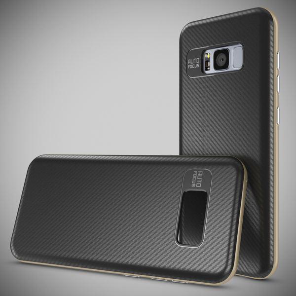 NALIA Handyhülle kompatibel mit Samsung Galaxy S8, Carbon Design mit Metall-Look Rahmen, Ultra-Slim Schutzhülle Silikon Case, Dünne Etui Hülle Handy-Tasche Smart-Phone Back-Cover – Bild 13