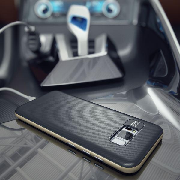 NALIA Handyhülle kompatibel mit Samsung Galaxy S8, Carbon Design mit Metall-Look Rahmen, Ultra-Slim Schutzhülle Silikon Case, Dünne Etui Hülle Handy-Tasche Smart-Phone Back-Cover – Bild 10