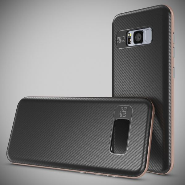 NALIA Handyhülle kompatibel mit Samsung Galaxy S8, Carbon Design mit Metall-Look Rahmen, Ultra-Slim Schutzhülle Silikon Case, Dünne Etui Hülle Handy-Tasche Smart-Phone Back-Cover – Bild 19