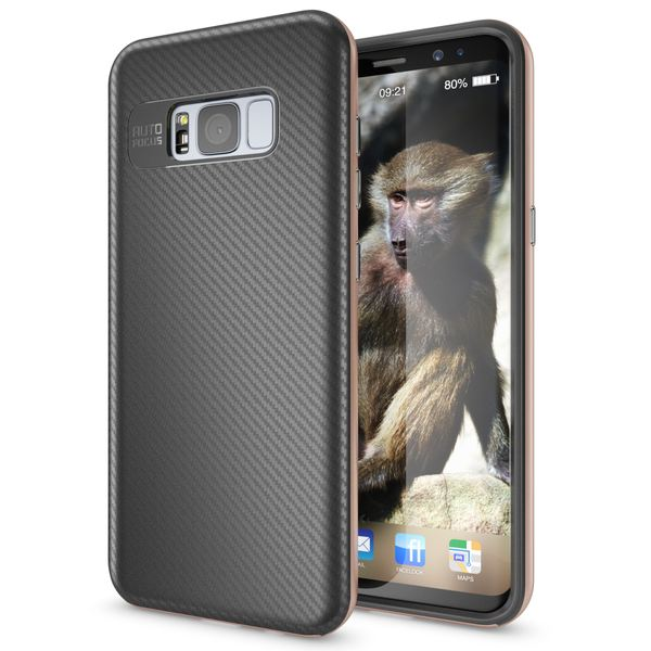NALIA Handyhülle kompatibel mit Samsung Galaxy S8 Plus, Carbon Design mit Metall-Look Rahmen, Ultra-Slim Schutzhülle Silikon Case Dünne Etui Hülle Handy-Tasche Smart-Phone Back-Cover – Bild 14