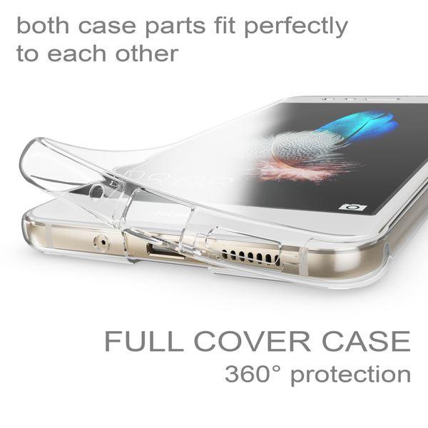 NALIA 360 Grad Hülle kompatibel mit Huawei P10 Lite, Full Cover Vorne Hinten Rundum Schutzhülle, Dünnes Ganzkörper Silikon Case Transparent Handyhülle Display Rückseite Etui – Bild 3