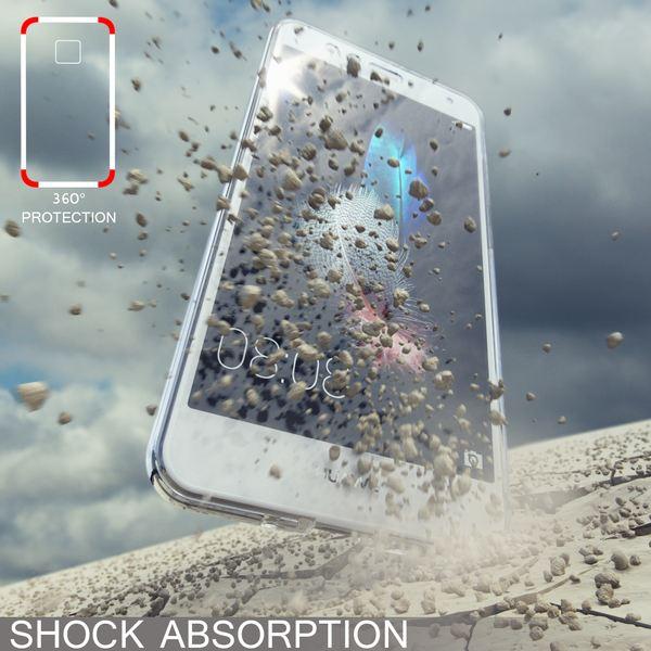 NALIA 360 Grad Hülle kompatibel mit Huawei P10 Lite, Full Cover Vorne Hinten Rundum Schutzhülle, Dünnes Ganzkörper Silikon Case Transparent Handyhülle Display Rückseite Etui – Bild 6