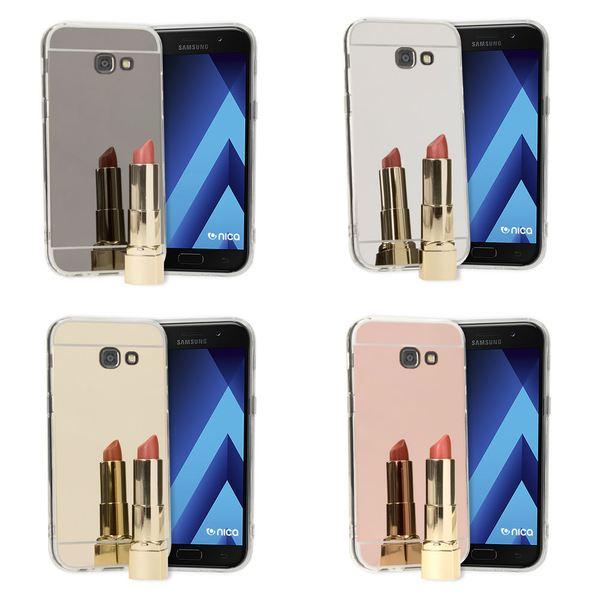 NALIA Spiegel Hülle kompatibel mit Samsung Galaxy A3 2017, Ultra-Slim Mirror Case TPU Silikon Handyhülle, Dünne Schutzhülle Back-Cover verspiegelt, Handy-Tasche Bumper Phone Etui – Bild 1