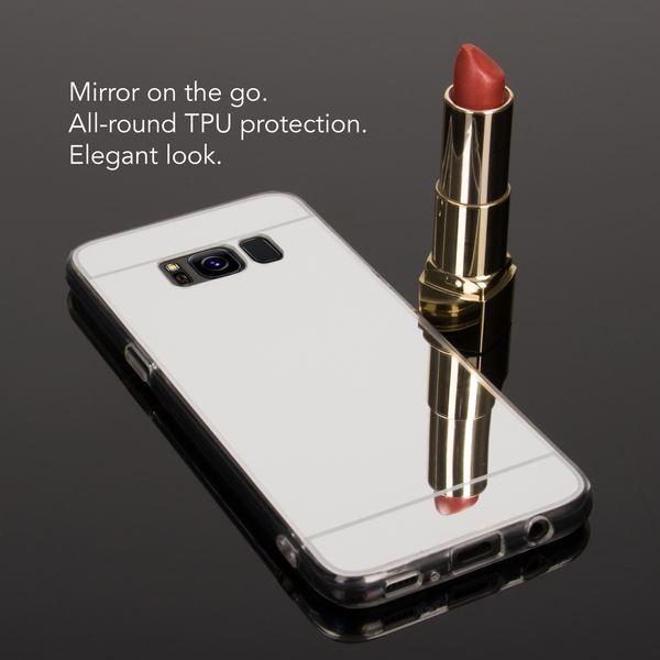 NALIA Spiegel Hülle kompatibel mit Samsung Galaxy S8, Ultra-Slim Mirror Case TPU Silikon Handyhülle, Dünne Schutzhülle Back-Cover verspiegelt, Handy-Tasche Bumper Smart-Phone Etui – Bild 6