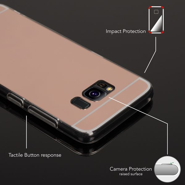 NALIA Spiegel Hülle kompatibel mit Samsung Galaxy S8, Ultra-Slim Mirror Case TPU Silikon Handyhülle, Dünne Schutzhülle Back-Cover verspiegelt, Handy-Tasche Bumper Smart-Phone Etui – Bild 13