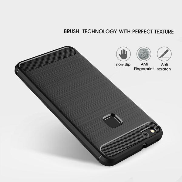 NALIA Handyhülle kompatibel mit Huawei P10 Lite, Carbon-Look Design Ultra-Slim Silikon Case Back-Cover, Dünne Schutzhülle Etui Handy-Tasche Schale Skin Bumper Smart-Phone Gummi Hülle – Bild 4