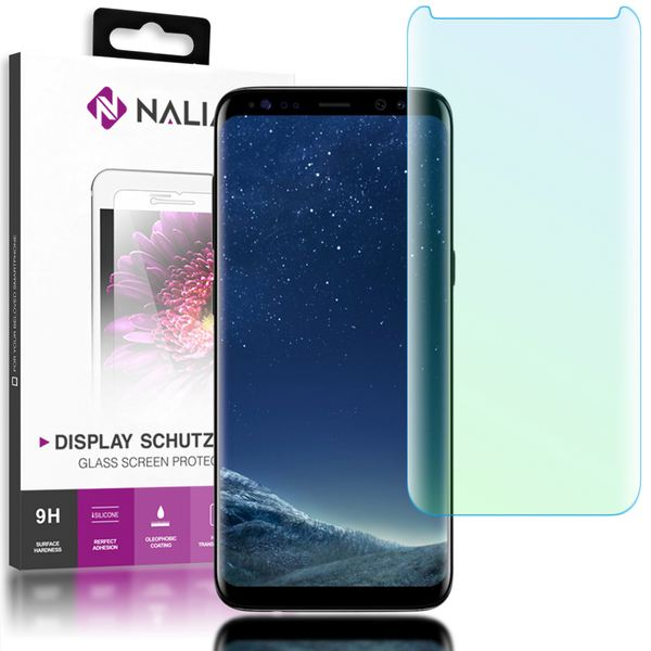 NALIA Schutzglas kompatibel mit Samsung Galaxy S8, 3D Full-Cover Displayschutz Hüllen-Kompatibel, 9H Härte Glas-Schutzfolie Handy-Folie Schutz-Film, HD Screen Protector Tempered Glass - Transparent – Bild 1
