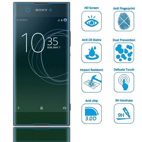 NALIA Schutzglas kompatibel mit Sony Xperia XA1, 3D Full-Cover Displayschutz Handy-Folie, 9H Härte Glas-Schutzfolie Bildschirm-Abdeckung, Schutz-Film HD Screen Protector Tempered Glass - Transparent – Bild 2
