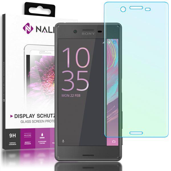 NALIA Schutzglas kompatibel mit Sony Xperia X, 3D Full-Cover Displayschutz Handy-Folie, 9H gehärtete Glas-Schutzfolie Bildschirm-Abdeckung Schutz-Film HD Screen Protector Tempered Glass - Transparent – Bild 1