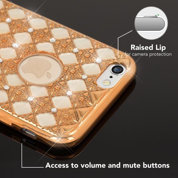 NALIA Handyhülle kompatibel mit iPhone 6 Plus 6S Plus, Shiny Glitzer-Steine Bling Silikon Case mit Strass-Muster, Metall-Optik Dünne Schutzhülle Handy-Tasche Slim Cover Hülle Bumper – Bild 14