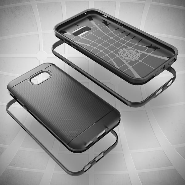 NALIA Handyhülle für Samsung Galaxy A5 2017, Ultra Slim Silikon Case mit Bumper, Dünne Sport Schutz-Hülle mit Rahmen im Metall-Look Etui Handy-Tasche Back-Cover für Samsung A5 2017 – Bild 6