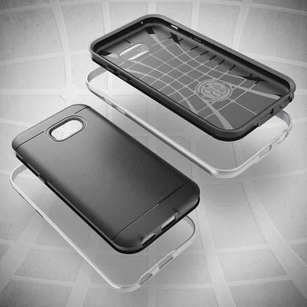 NALIA Handyhülle kompatibel mit Samsung Galaxy A3 2017, Ultra-Slim Silikon Case mit Farb-Bumper Rahmen im Metall-Look, Dünne Sport Schutzhülle Etui Handy-Tasche Schale Back-Cover Hülle – Bild 9