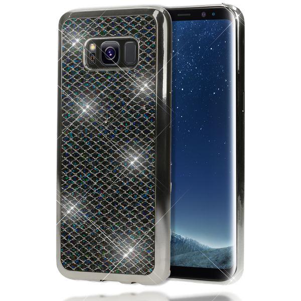 NALIA Handyhülle kompatibel mit Samsung Galaxy S8, Glitzer Slim Silikon-Case Back-Cover Schutzhülle, Glitter Sparkle Handy-Tasche Bumper, Dünne Bling Strass Smart-Phone Hülle – Bild 2