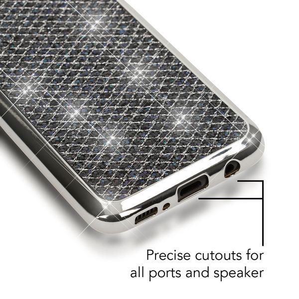 NALIA Handyhülle kompatibel mit Samsung Galaxy S8, Glitzer Slim Silikon-Case Back-Cover Schutzhülle, Glitter Sparkle Handy-Tasche Bumper, Dünne Bling Strass Smart-Phone Hülle – Bild 4