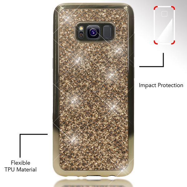 NALIA Handyhülle kompatibel mit Samsung Galaxy S8, Glitzer Slim Silikon-Case Back-Cover Schutzhülle, Glitter Sparkle Handy-Tasche Bumper, Dünne Bling Strass Smart-Phone Hülle – Bild 16