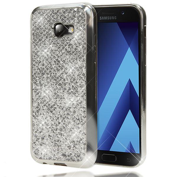 NALIA Handyhülle kompatibel mit Samsung Galaxy A3 2017, Glitzer Slim Silikon-Case Back-Cover Schutzhülle, Glitter Sparkle Handy-Tasche Bumper, Dünne Bling Strass Smart-Phone Hülle – Bild 20