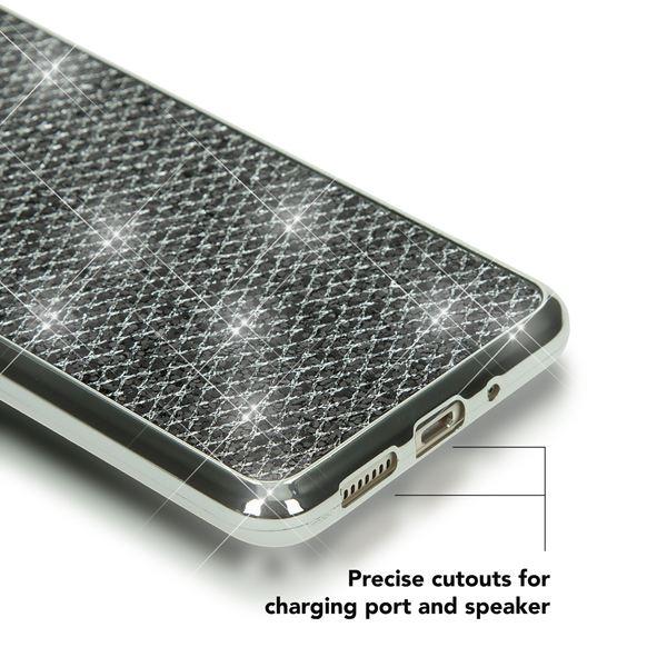NALIA Handyhülle kompatibel mit Huawei P10 Lite, Glitzer Slim Silikon-Case Back-Cover Schutzhülle, Glitter Sparkle Handy-Tasche Schale Bumper, Dünne Bling Strass Smart-Phone Hülle – Bild 4