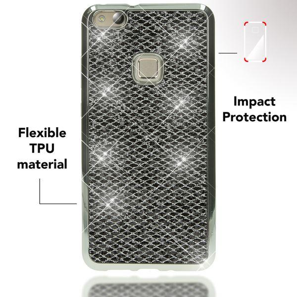 NALIA Handyhülle für HuaweiP10 Lite, Glitzer Slim Silikon-Case Back-Cover Schutz-Hülle, Glitter Sparkle Handy-Tasche Bumper, Dünnes Bling Strass Smart-Phone Etui für P10-Lite – Bild 6