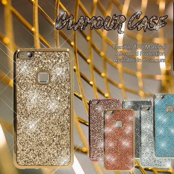 NALIA Handyhülle für HuaweiP10 Lite, Glitzer Slim Silikon-Case Back-Cover Schutz-Hülle, Glitter Sparkle Handy-Tasche Bumper, Dünnes Bling Strass Smart-Phone Etui für P10-Lite – Bild 7